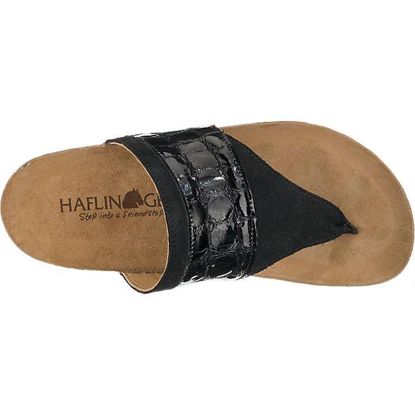 HAFLINGER Maya Pantoletten schwarz