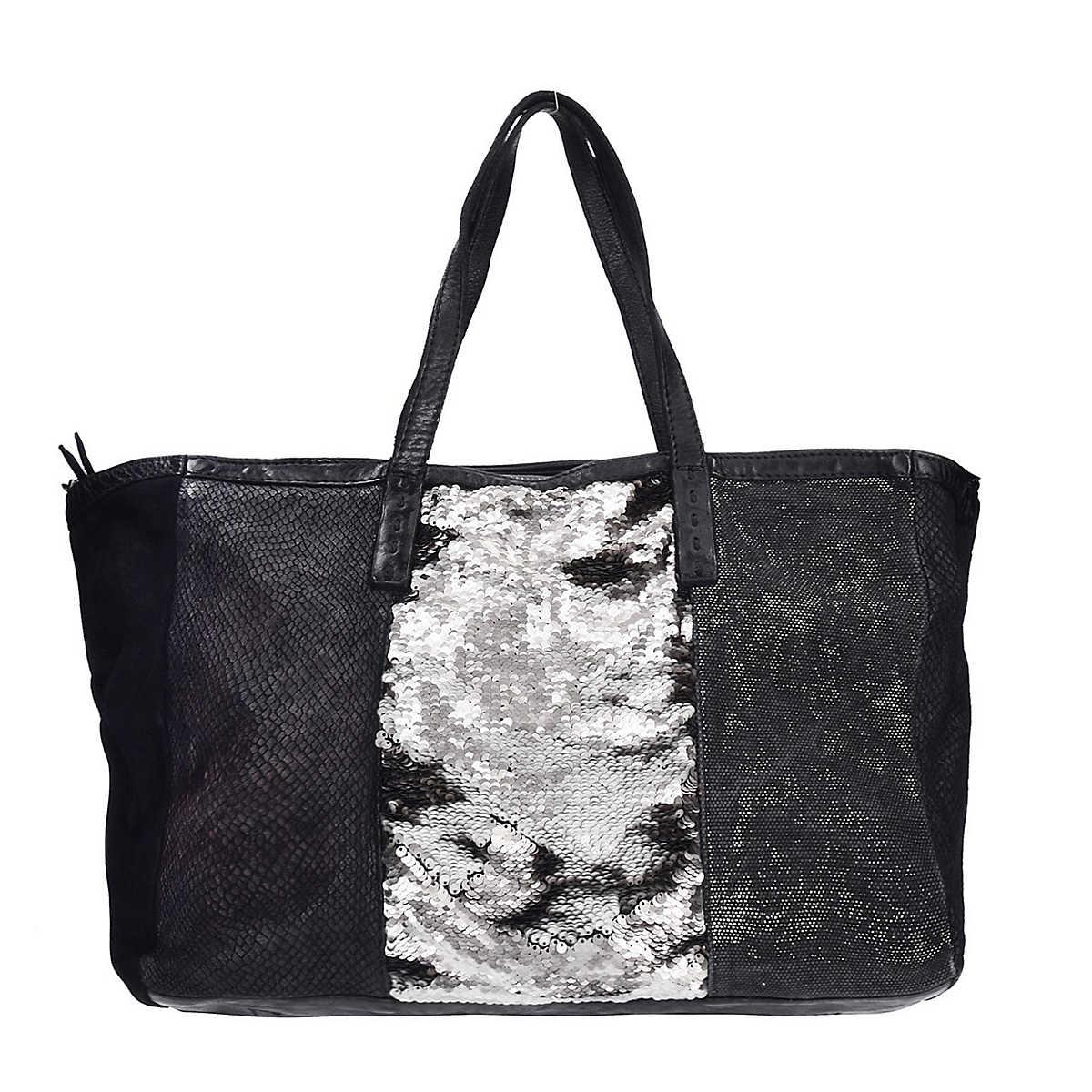 Caterina Lucchi Shopper Tasche Leder 37 cm silber - Caterina Lucchi - Shopper - Taschen - mirapodo.de