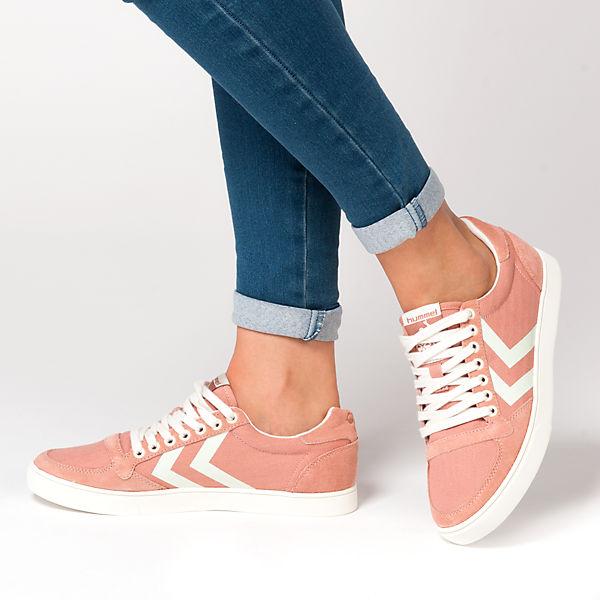 hummel Slimmer Stadil Herringbone low Sneakers rosa