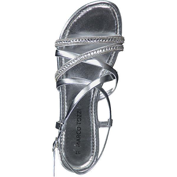 marco tozzi marco tozzi eder sandaletten silber mirapodo. Black Bedroom Furniture Sets. Home Design Ideas