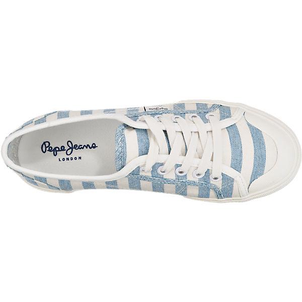 Pepe Jeans Abernew Stripes Sneakers blau-kombi