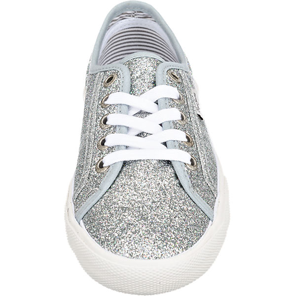 Pepe Jeans Aberlady Flash Sneakers silber