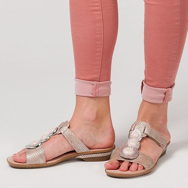 rieker Pantoletten rosa