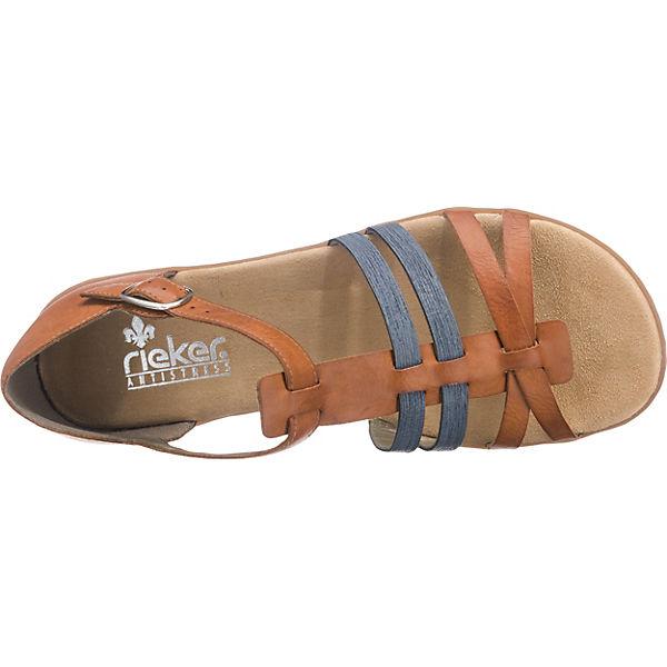 rieker Sandaletten braun-kombi