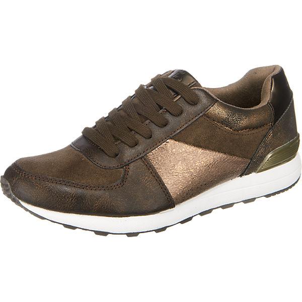 s.Oliver Sneakers braun-kombi