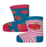 By Graziela Socken Doppelpack für Mädchen blau/weiß