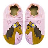 Krabbelschuhe für Mädchen, Pferd rosa