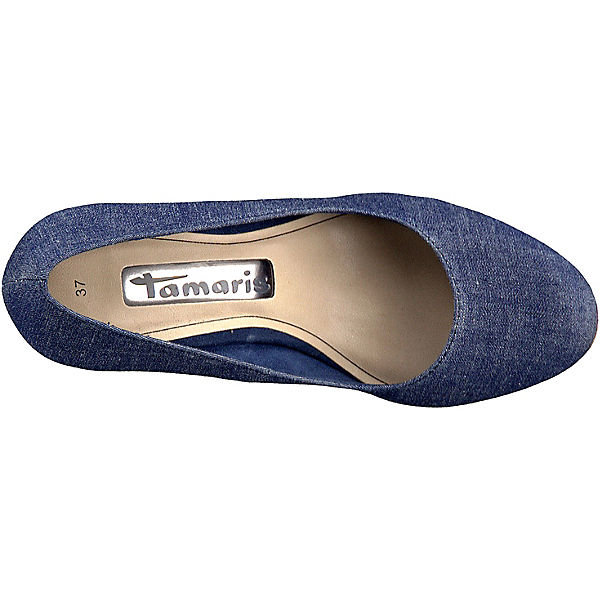 Tamaris Pumps blue denim