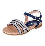 Sandalen für Mädchen blau-kombi