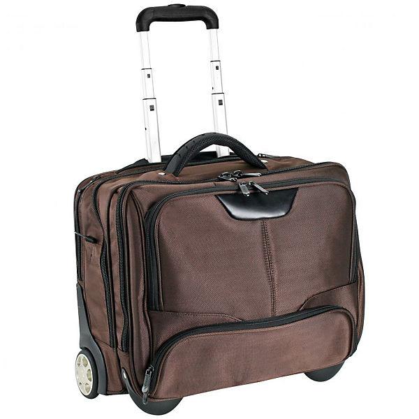 Dermata Business-Trolley 43 cm Laptopfach braun