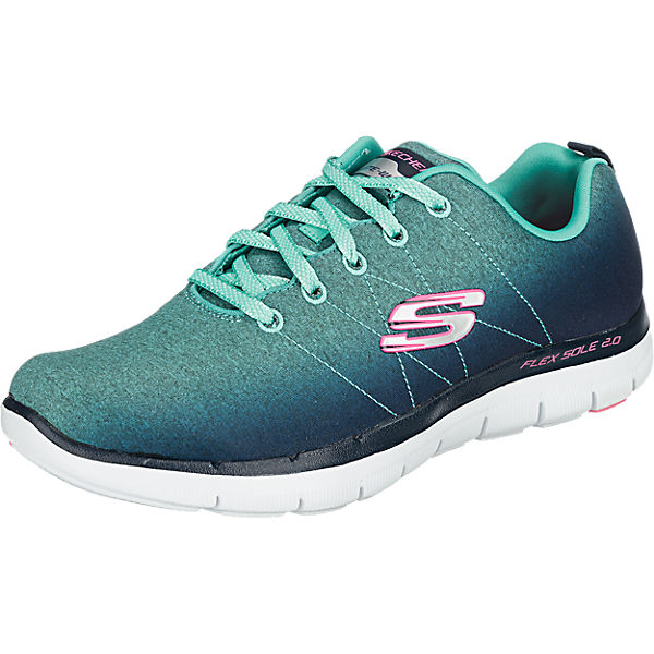 SKECHERS Flex Appeal 2.0 Bright Side Sneakers blau-kombi