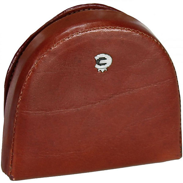 Esquire Toscana Münzbörse Leder 8 cm braun