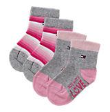 Baby Socken Doppelpack für Mädchen rosa+grau