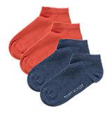 Kinder Sneakersocken Doppelpack blau/orange
