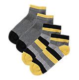 Kinder Sneakersocken Doppelpack grau/gelb