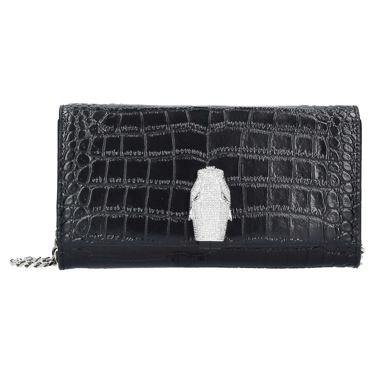 Roberto Cavalli Class RSVP Treasure Clutch Umh�¤ngetasche Leder 27 cm schwarz - Roberto Cavalli Class - Clutch & Abendtaschen - Taschen - mirapodo.de