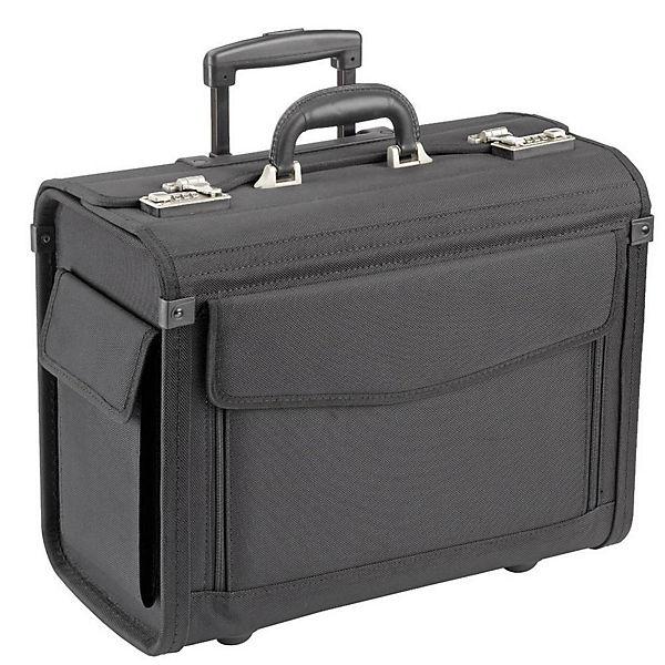 Dermata Pilotenkoffer Trolley 45,5 cm Laptopfach schwarz