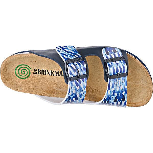 Dr. Brinkmann Pantoletten blau-kombi