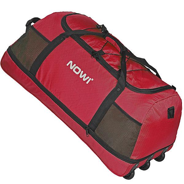 NOWI XXL Riesen Reisetasche mit 3 Rollen Volumen 100-135 Liter Rollenreisetasche 81 cm rot