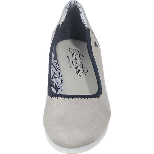 TOM TAILOR Ballerinas hellgrau