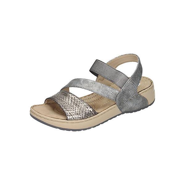 rieker Sandaletten grau-kombi