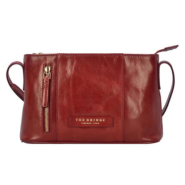 Passpartout Donna Mini Bag Umhängetasche Leder 25 cm rot