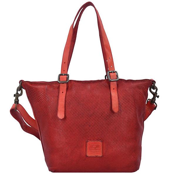 Tarassaco Shopper Tasche Leder 23 cm rot