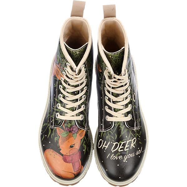 Dogo Shoes I Love You So... Stiefel schwarz-kombi