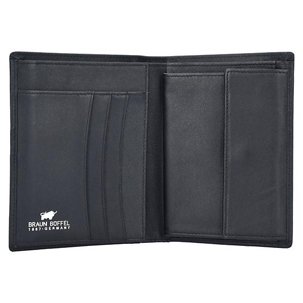 Arizona Geldbörse Leder 10 cm schwarz