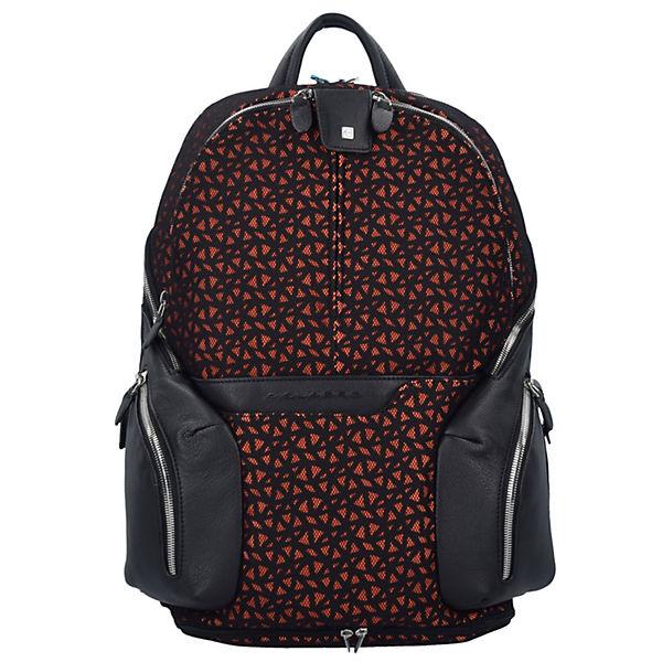 Coleos Rucksack Leder 36 cm Laptopfach schwarz