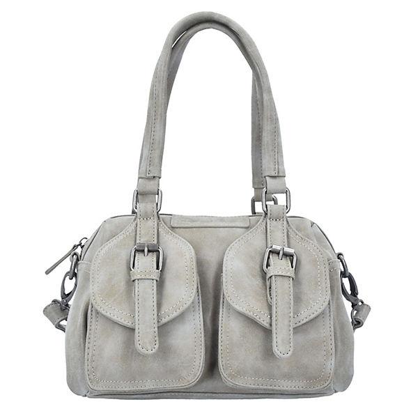 Lilli Vintage Handtasche 32 cm hellgrau