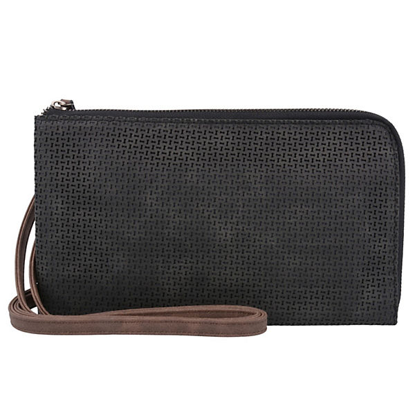Izzy Clutch Tasche 25 cm schwarz