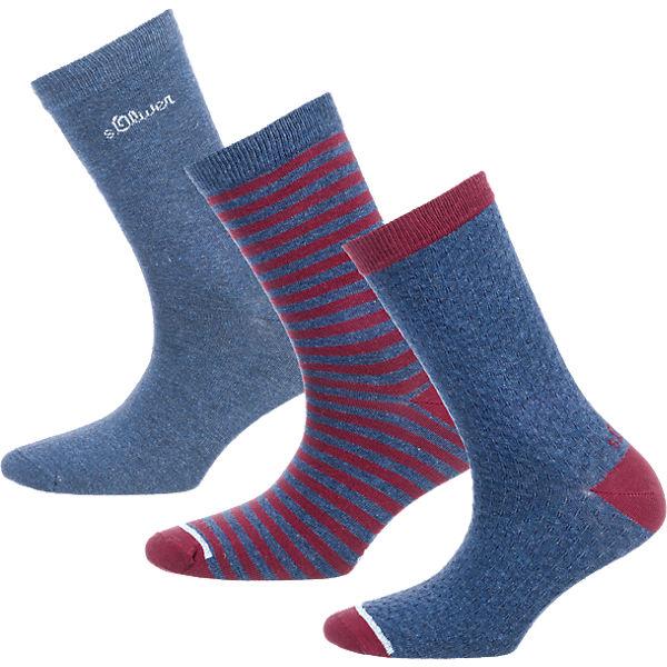 s.Oliver 3 Paar Socken blau
