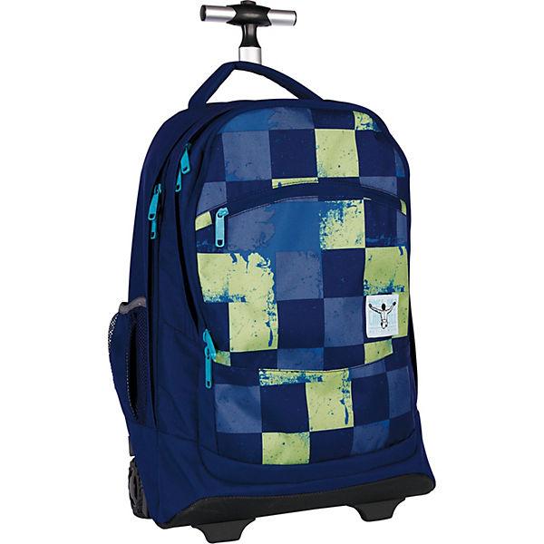 Wheely Travelbag 2-Rollen Rucksack-Trolley 52 cm Laptopfach blau-kombi
