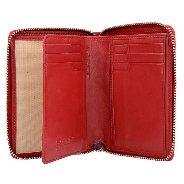 Helena Geldbörse Leder 12 cm rot