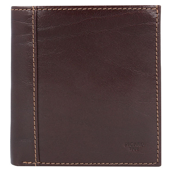 Bern Geldbörse Leder 9 cm dunkelbraun