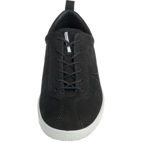 ecco Soft 1 Ladies Sneakers schwarz