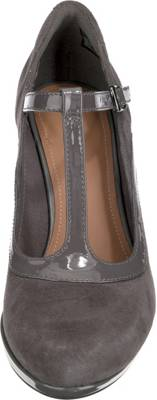 ... Clarks Chorus Pitch T-Steg-Pumps dunkelgrau ...