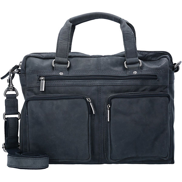Jupiter Business Aktentasche Leder 41 cm grau