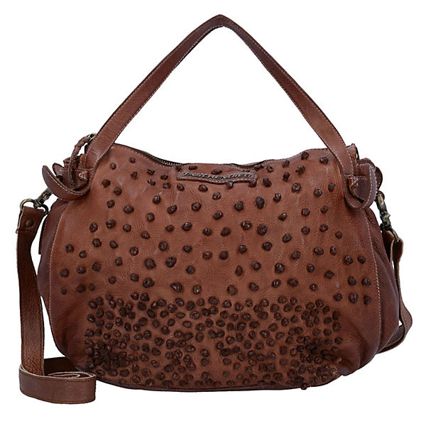 Handtasche Leder 28 cm braun