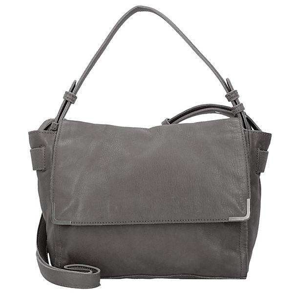 Twentyone Messenger Bag Tasche Leder 26 cm grau