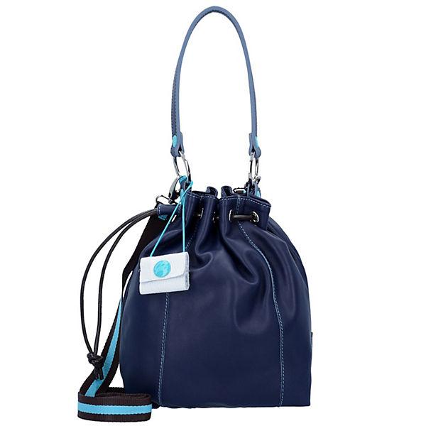 Jess S Beuteltasche Leder 32 cm blau