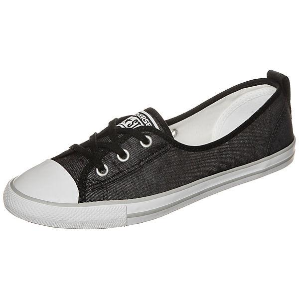 Converse Chuck Taylor All Star Ballet Lace Slip OX Sneaker Damen schwarz-kombi
