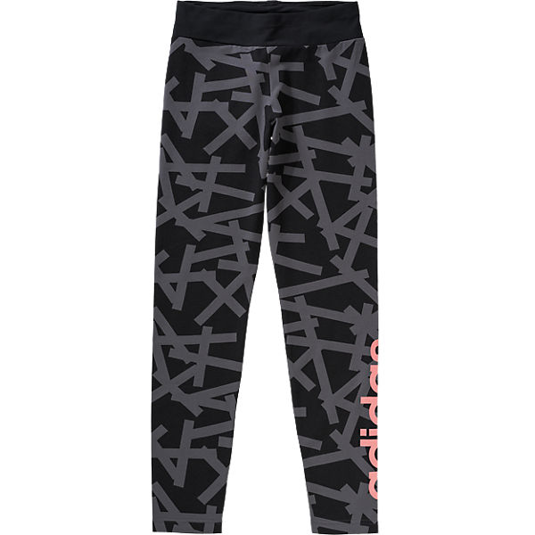 grau für Performance Mädchen schwarz adidas Sportleggings 6vqwUB