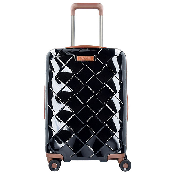 Stratic Leather & More 4-Rollen Kabinentrolley 55 cm schwarz