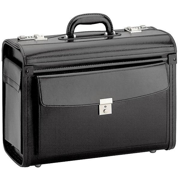 D&N Business & Travel Pilotenkoffer 46 cm Leder schwarz