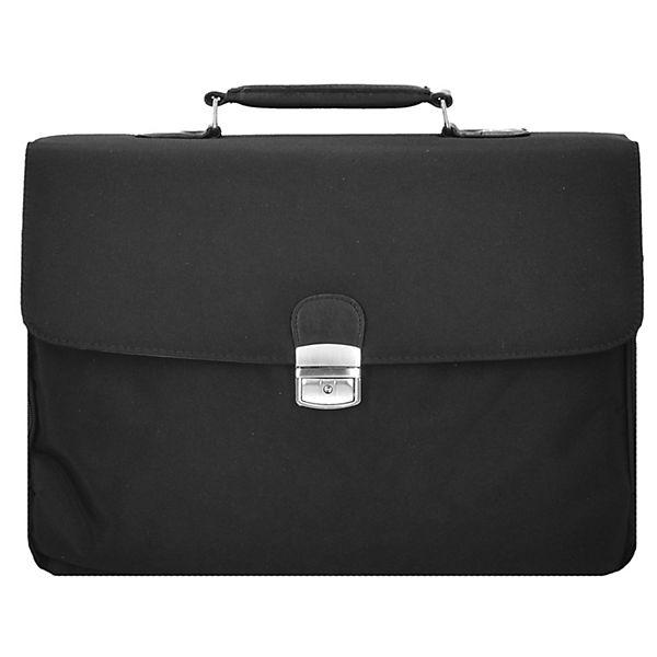 D&N Basic Aktentasche 42 cm Laptopfach schwarz