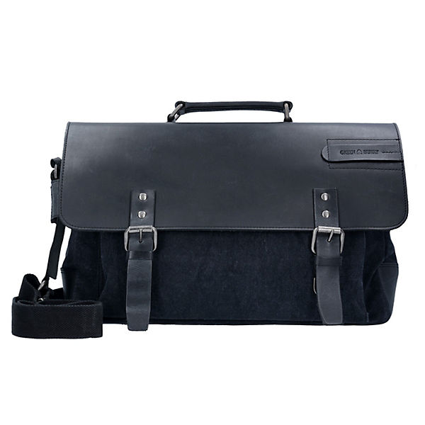 Greenburry Black Sails Messenger Bag 45 cm Laptopfach schwarz