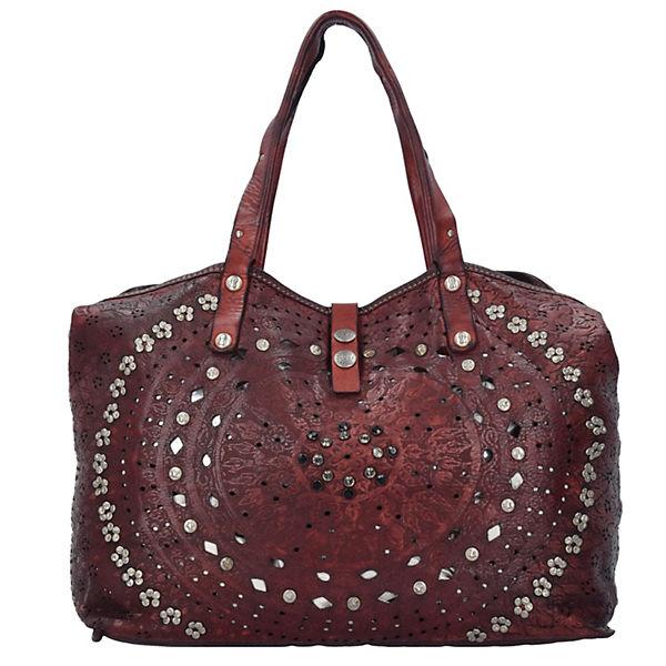 Campomaggi Echinacea Shopper Tasche Leder 46 cm rot