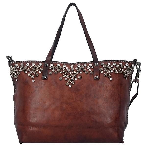 Campomaggi Bella di Notte Shopper Tasche Leder 44 cm braun